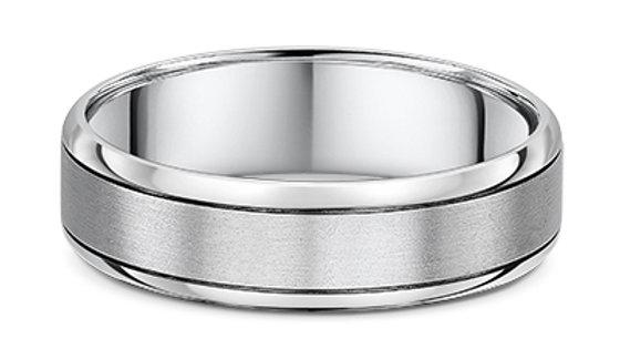 14k White Gold 6mm Wedding Band