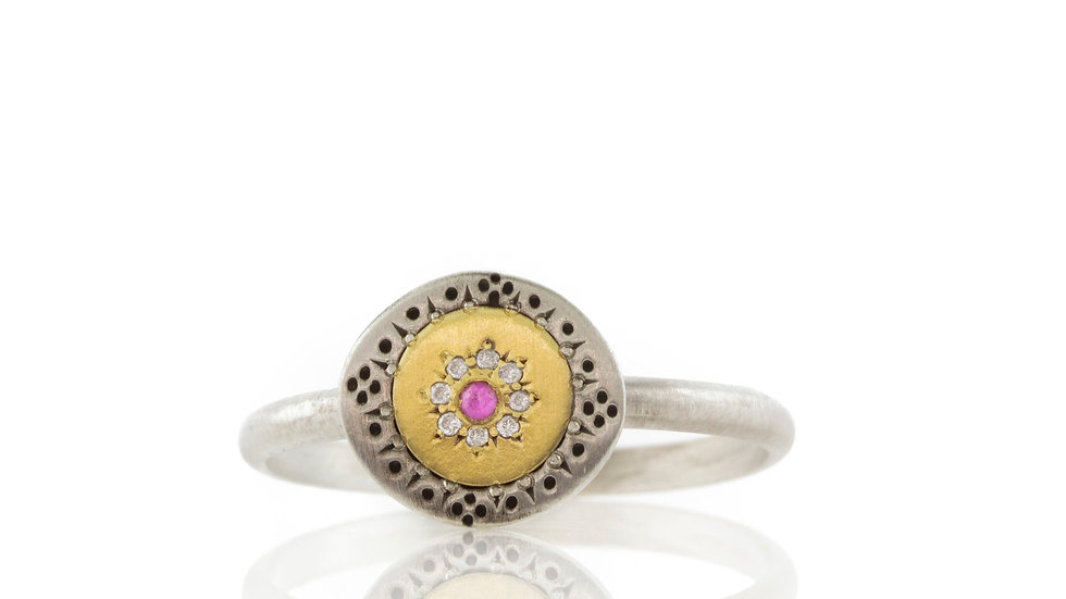 Pink Sapphire Ring Seeds of Harmony