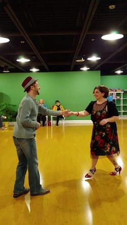 Amy, rocking that dance floor!