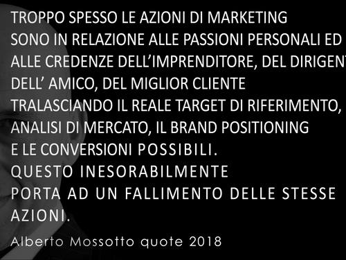 MARKETING...FORSE