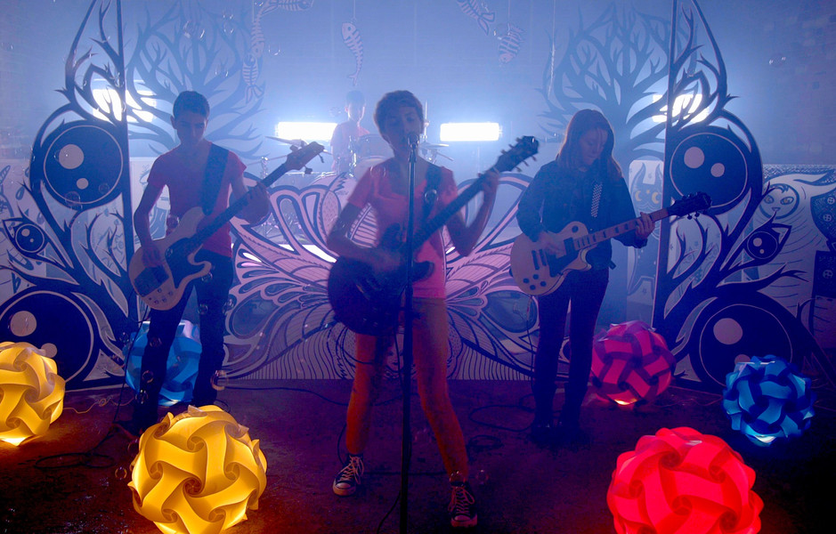 "Still from ""Awkward"" music video"