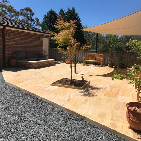 How to design a Landscaped yard for cooling.