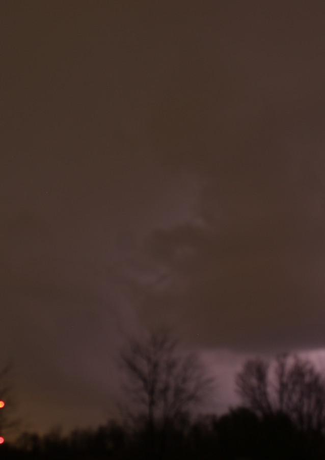 Lightning in a dark sky