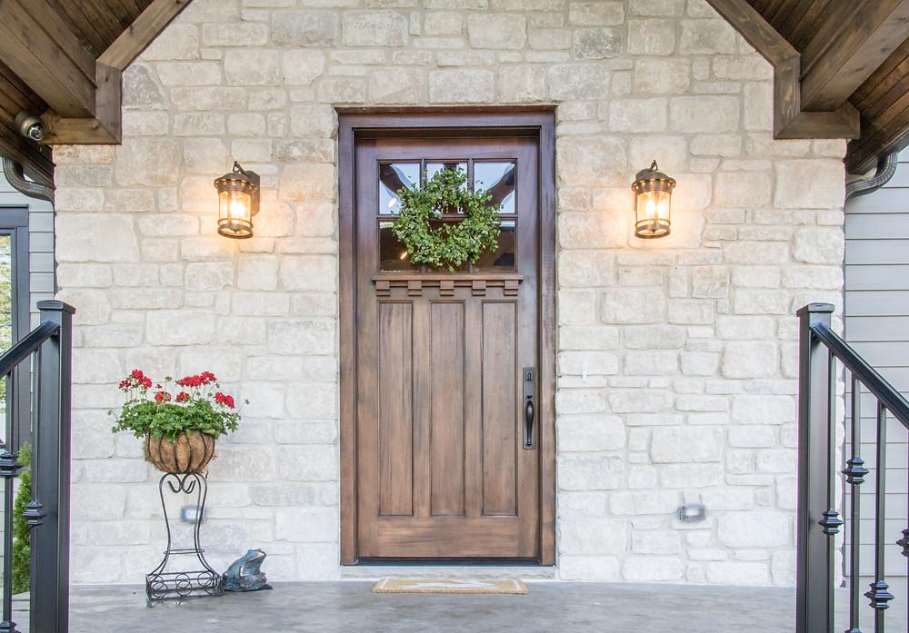 Beautiful Masonry Stone Veneer Front of House