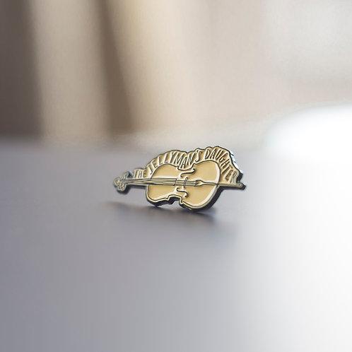 Cello pin badge