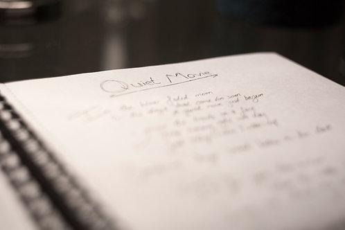 Handwritten lyrics : Dead Reckoning full album
