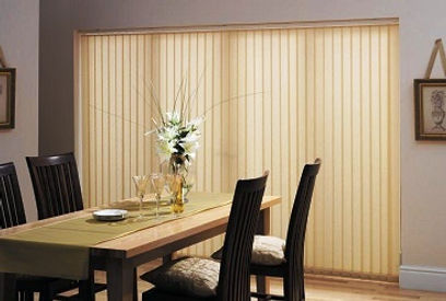 Vertical blinds like other window blinds cannot entirely block out the external light from intruding into the room. Even though the slats are swivel closed, the light still can be escaped through the vertical slats. This type of window shades works better in the office place.