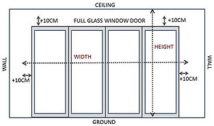 At Window Blind Singapore, we share with you on how to measure your bare windows or doors, so that you can retrieve the quote on your preferred window treatments fast from us. Initially, you need to measure the width and height of your curtains and window blinds by deciding on where you want the window coverings to begin and end.