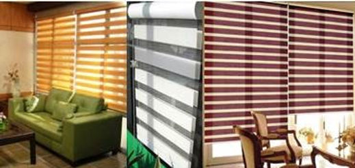 The Korean Combi blinds also known as rainbow blinds provide good versatility by merely adjusting the spacing between the horizontal stripes to gently filter the sun or have it closed to block out sunlight as well as for complete privacy purposes. By controlling the cord manually, you can also roll it halfway or all the way up to allow more light in and to brighten the room.