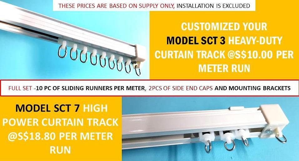 There are many benefits of buying curtain tracks from the largest Singapore Curtain Rail Track Supplier which we intend to highlight to you. First, we only provide the best quality track, which is mold from non-corrosion aluminum materials, and they can withstand the heavy hanging load up to 28 kg. Secondly, we present one year warranty on our metal rail products and if the product fails, we will exchange it without you incurring any additional cost in the future. Thirdly, we provide free delivery 24/7 island-wide Singapore upon purchasing our curtain railing.