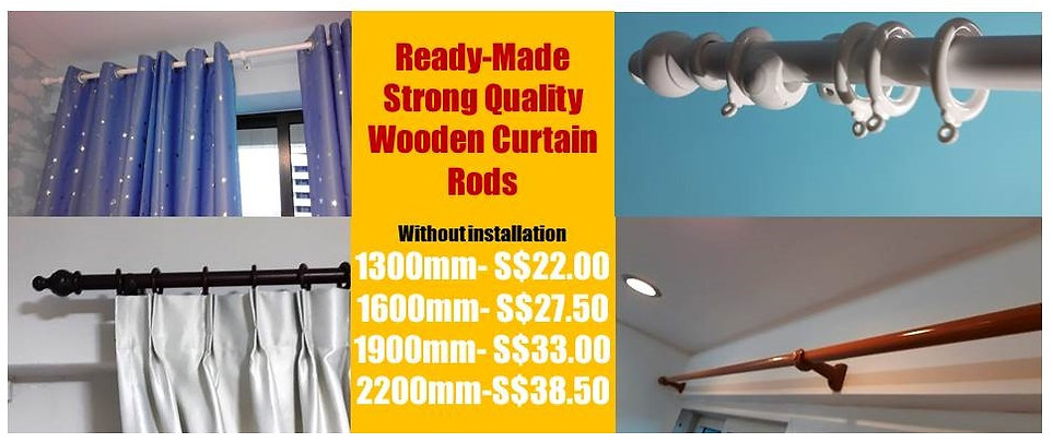 In Singapore, It is a privilege to install the solid wood curtain rods because they can boost up the quality finishes of the curtains, and these beautiful wooden poles can inject the unexpected luxurious feels into your ordinary surrounding.