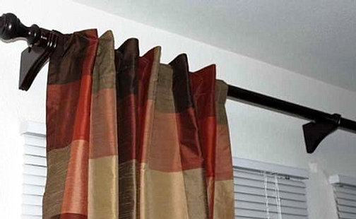 Curtains Ideas curtain rod singapore : Install wooden curtain rods