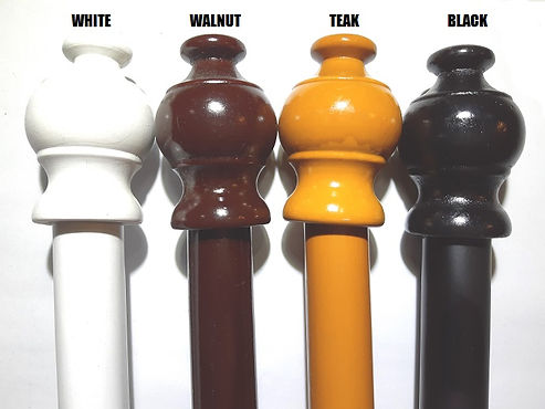 Selecting the correct color scheme can influence your entire surrounding, we have four different choices of vibrant color for the solid wood curtain rod, which are white, walnut, black, and teak color.