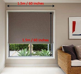 The picture shows you how we measure the window coverings such as roller blinds to determine its costs. All we need is just the width and height.