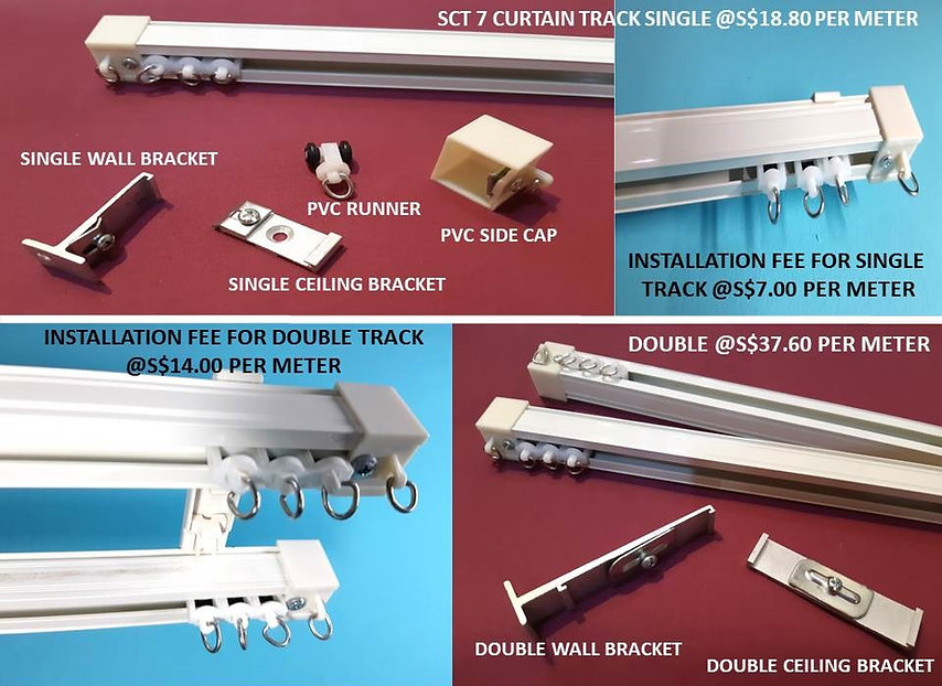 SCT7 high power straight curtain rail tracks are the king of all drape tracks, and it is available exclusively at Singapore Curtain Rail Track Supplier only. The SCT7 curtain tracks originate from Japan, and they are perfect for heavy curtains. Compare to other curtain rails, SCT7 Japanese curtain tracks are smoother when sliding to and fro, and they are suitable to install on the high ceiling with ease.
