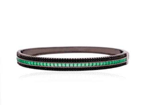 Bracelete Trilho de Cristais Esmeralda
