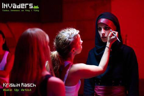 Blanca Jara with Make Up artist Kristin Rasch