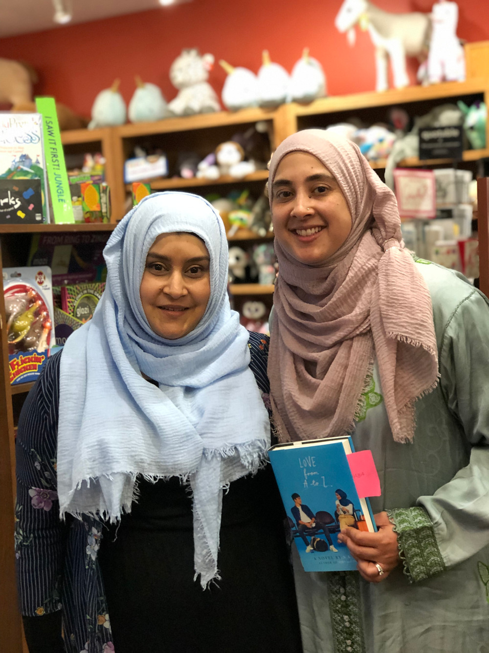 Tayyaba Syed with S.K. Ali at Anderson Bookshop