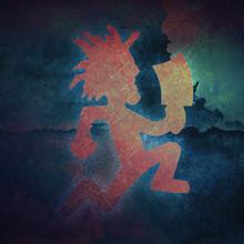 Red + Blue Grunge Hatchetman by Josh Ulrich