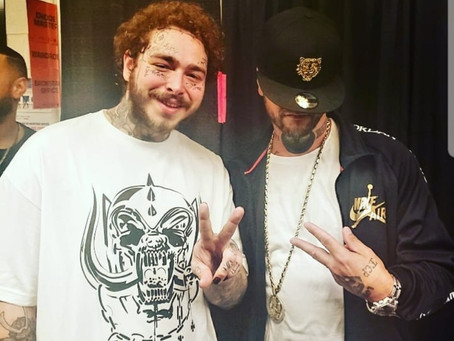 Post Malone and 2 Dope kickin' it in Detroit murderous last night!