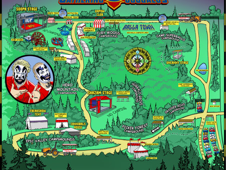 20th Annual Gathering Map