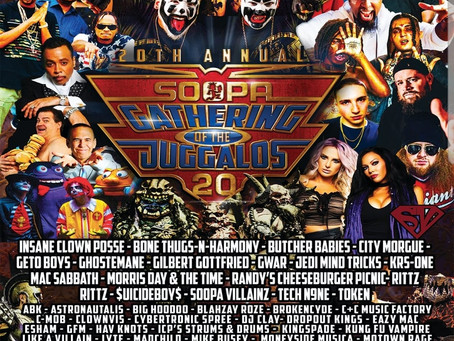 Official 20th Annual Gathering of the Juggalos Line-up!