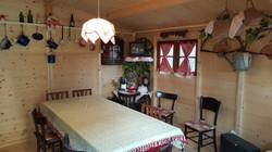 Casetta legno arredata