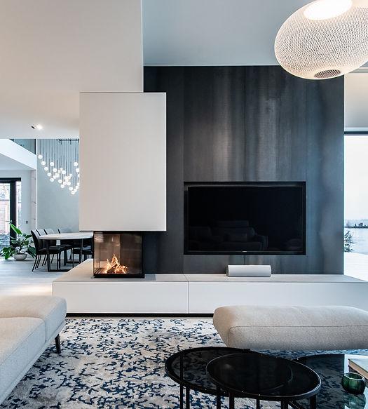 dynamisch ontwerp, openhaard, fireplace, gesloten gashaard