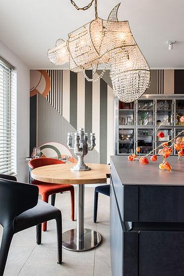 interior design kitchen plan by room for fire, wall&deco wallpaper orange white black