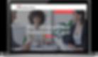 Optimus Business Advisory website on lap