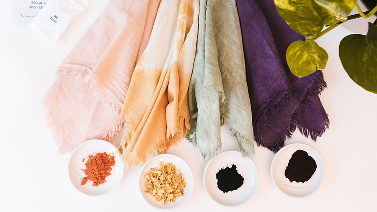 Natural Dyeing on Fabric