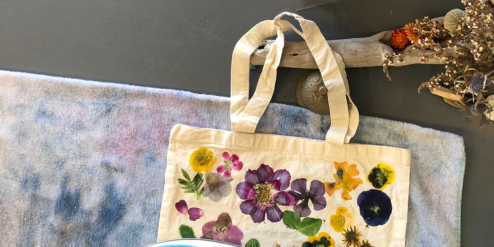 Floral Transfer on Fabric