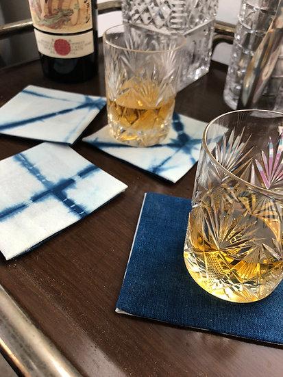 Shibori Linen Coasters