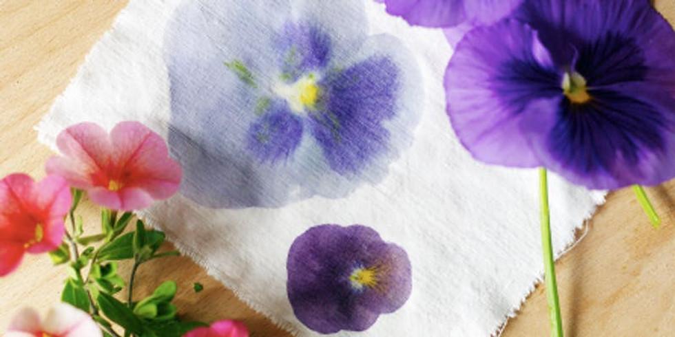 Flower Pounding on Silk Scarves
