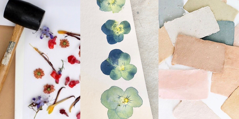 Natural Dye & Wildflower Stamping on Stationery