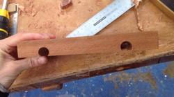 Mahogany handles before shaping