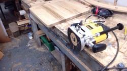 Routing oak chopping board