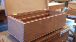 Mahogany dovetail toolbox