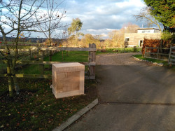 The Molehill , Sign and post box
