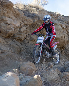 Trials bike beta rocks ram off-road park