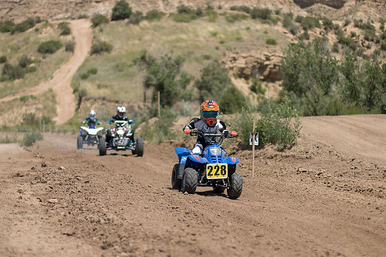 Kid quad atv 4-wheeler race corcs ram off-road park rider shaun's shots