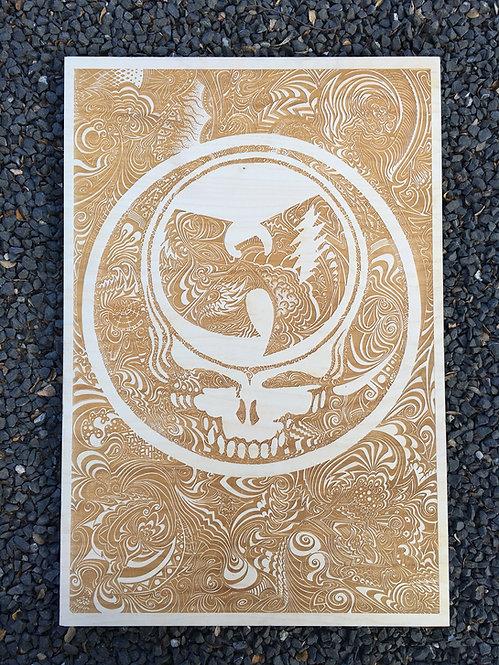 Grateful Tang - Laser Wood Carving