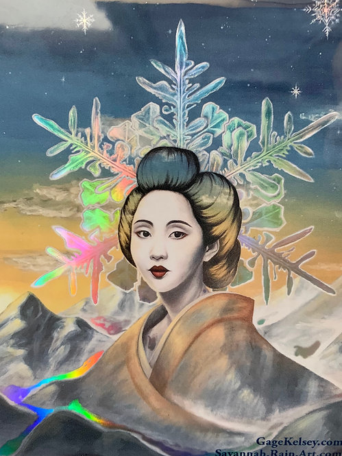 Geisha Holographic Sticker