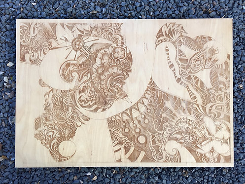 Wiggle Mask - Laser Wood Carving