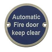 Automatic fire door symbol