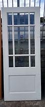 White Glazed Door