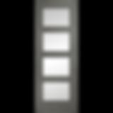 Daiken 4 panel clear glass grey door