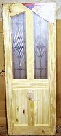 Pine 4 Panel Leaded glass door