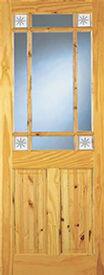 Cherbury Glazed Pine Door