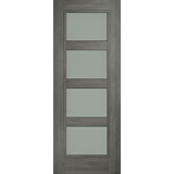 Daiken 4 panel frosted glass grey door